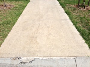 Cracks in Concrete Pathway