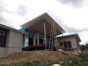 Photo of new house being built at Samford Valley