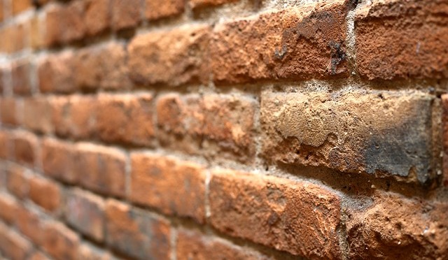 Brick wall degraded