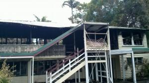 Assess fire damaged buildings