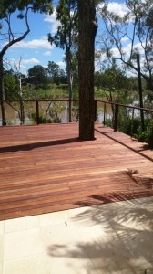 Timber deck above Brisbane River