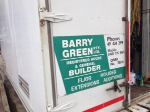 Barry Green signage