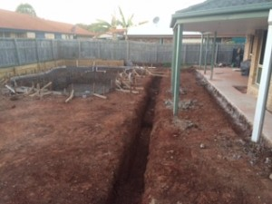 Pool excavation and footings