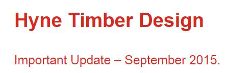 Hyne Timber Program Update