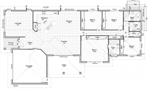 Sample floor plan by a building designer