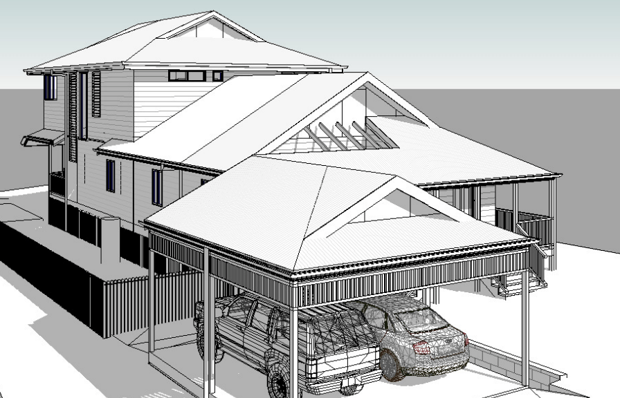 Artist's impression of house extension