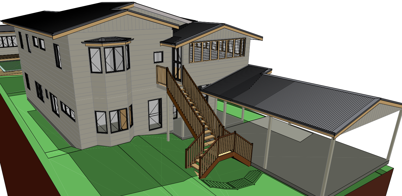 3d view of proposed home renovation