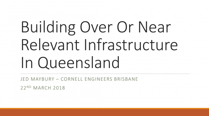 Training Session – Building Over or Near Public Infrastructure