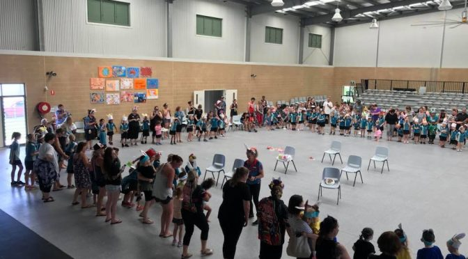 School hall being used for a family fun day