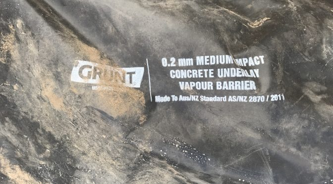 Picture of vapour barrier