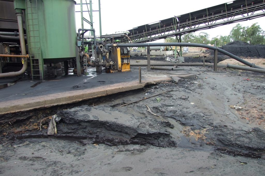 Existing concrete pavement on a coal mine needs to be replaced